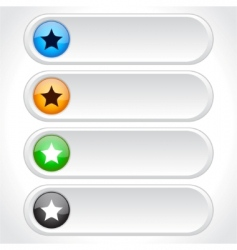 web page buttons vector image