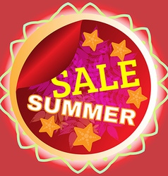 Summer sale promotion flyer vector