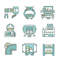 Manufacturing process icons vector
