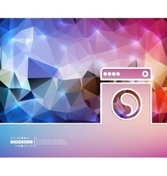 Creative washing machine art vector