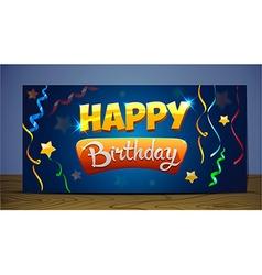 Greeting card happy birthday vector