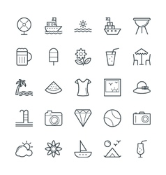 Summer cool icons 1 vector