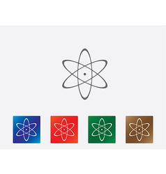 Atom icons vector image vector image