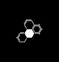 Biochemistry icon flat design vector