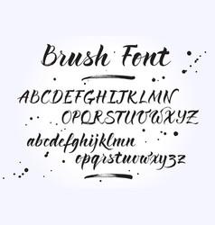 brush lettering alphabet vector image vector image