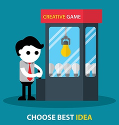 Choose best idea vector image
