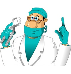 Dentist and tooth vector