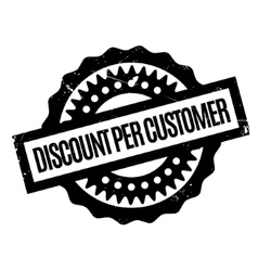 Discount per customer rubber stamp vector