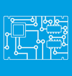Electronic board icon outline vector