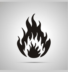 fire simple black icon vector image