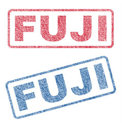 Fuji textile stamps vector