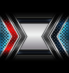 geometric backgrounds red blue vector image