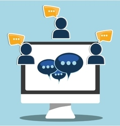 Graphic of chat design vector image