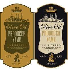 Label for olive oil vector