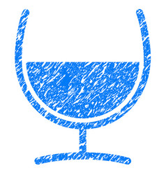 Remedy glass grunge icon vector