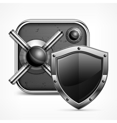 Safe icon shield vector image vector image