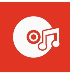 The music icon Disc symbol Flat vector image vector image