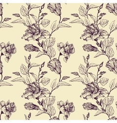 Vintage floral seamless pattern vector