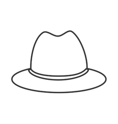 Hat cloth costume design vector