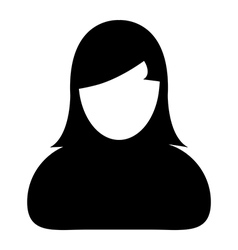Human icon woman user profile avatar glyph vector