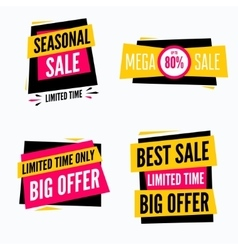 Special offer sale tag discount symbol set vector