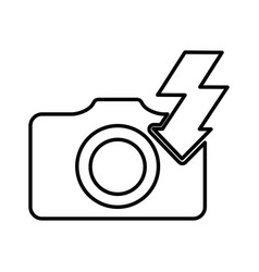 Flash ray photographic item vector