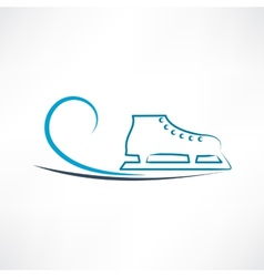 One skate vector image