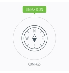Compass icon geographical orientation sign vector