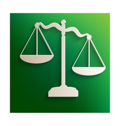 Scale justice icon vector