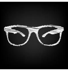 Sunglasses sign scribble effect vector