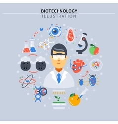 Biotechnology colored composition vector