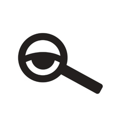Flat icon in black and white style eyesight check vector