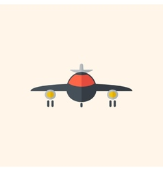 Airplane travel flat icon vector