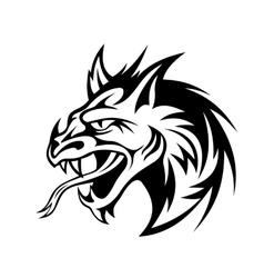 Angry dragon vector