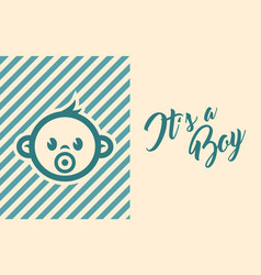 Baby shower invite greeting card vector