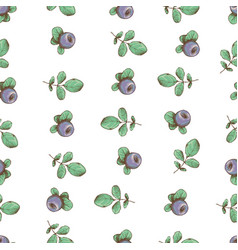beautiful seamless pattern with natural vector image