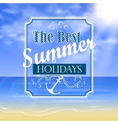 Beautiful Seaside View Poste vector image vector image