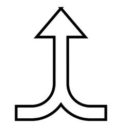 Connection arrow up contour icon vector