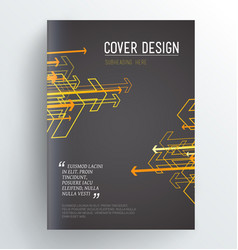 Dark book cover design template with arrows vector