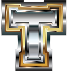 Fancy font Letter T vector image vector image