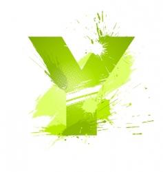 font letter y vector image