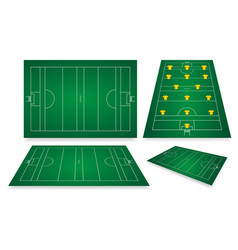 Gaelic football fields vector