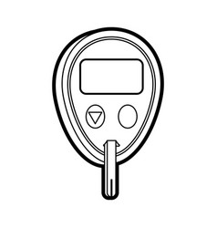 Glucometer healthcare icon image vector