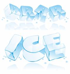 Ice cube letters vector