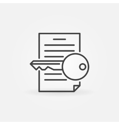 Keyword research line icon vector