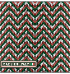 Knitting italy colors pattern sweater battlement vector