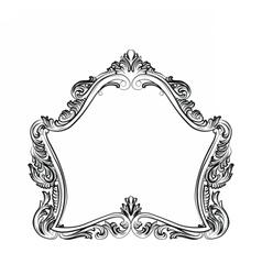 Luxury Baroque Rococo Mirror frame set vector image vector image