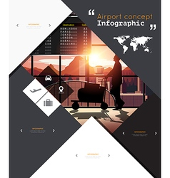 Modern infographic for airport concept vector