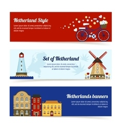 Netherlands horizontal banners vector