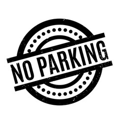 no parking rubber stamp vector image vector image